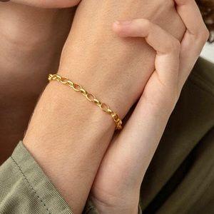 18k Gold Vermeil Rolo Bracelet